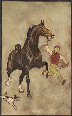 George Ford Morris - most remembered for his portraiture of the American Saddlebred. His documentation of the rise of this breed with its foundation stock is quit remarkable. George Ford Morris's work remains the most sought after still in the century. Art And Illustration, Illustrations, Horses And Dogs, Show Horses, Horse Artwork, Horse Paintings, Pastel Paintings, Horse Sketch, Horse Posters
