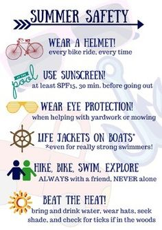Need an easy reminder to send home with students about summer safety?  This beautiful flyer is a great way to put safety in the front of students' minds as they set off for summer fun!  High quality printable for distribution!