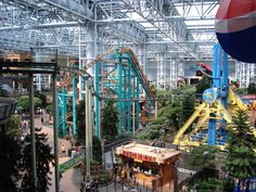 Mall of America~Walk, shop, ride the roller coaster, MN.