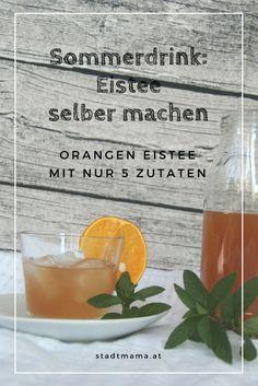 Orangen Eistee selber machen. Mit diesem Rezept überzeugt ihr auf jeder Sommerparty. Erfrischendes Orangen Eistee Rezept für heiße Somemrtage.