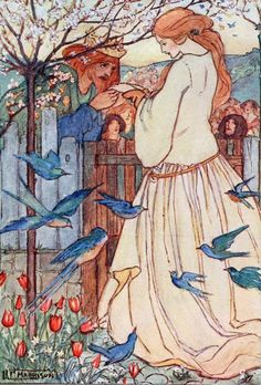 Illustration from Maiden Song (1910) by Emma Florence Harrison