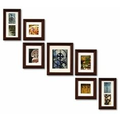 Pinnacle Frames and Accents 7-Piece Photo Frame Set, Walnut Solid Wood $50.07 amazon prime