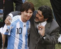 Argentina's greatest footballer of all time Diego Maradona has pleaded with country man and curr...