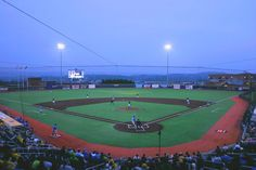 Stadium #98 - Monongalia County Ballpark, Morgantown, WV.  The West Virginia Black Bears, a Pirates affiliate, in the NY-Penn League play here.  This stadium is new, built for the 2015 season.  The franchise moved here from Jamestown, NY