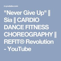"""If you guys have seen the movie, """"Lion"""", you'll understand why this song is a special one! We love the bollywood undertones of this song, as well as the stro. Cardio Dance, Dance Exercise, Refit Revolution, Dance Fitness, Never Give Up, Songs, Youtube, Bollywood, Song Books"""