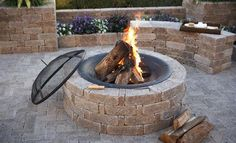 How to DIY: Fire Pit Construction - homeyou Rim Fire Pit, Fire Pit Ring, Cool Fire Pits, Fire Pit Construction, Outdoor Fire, Outdoor Decor, Outdoor Ideas, Outdoor Living, Outside Fire Pits