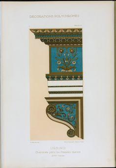 Urbino : cheminée peint du Palazzo ducale (XVIme siècle)