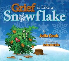 Grief is Like a Snowflake is a Mom's choice award winner.    After the death of his father, Elementary School Counseling, School Social Work, School Counselor, Elementary Schools, Julia Cook, Grief Counseling, Counseling Office, Grief Loss, School Psychology