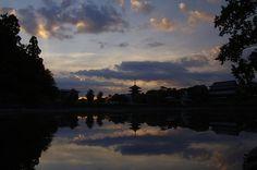 飛鳥の夕暮れ(奈良)
