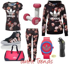 10 Super Cool Gym Outfits for Women- Workout Clothes | Outfit Trends | Outfit Trends   Cute but would not wear all the pieces together at one time http://www.FitnessApparelExpress.com