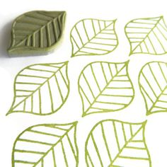 Carvado de sellos. Summer Leaf Pattern Stamp - Cling Rubber Stamp                                                                                                                                                                                 Más