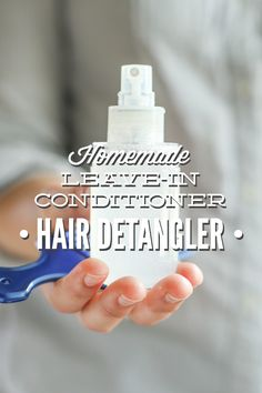 An easy to make and effective homemade leave in conditioner and hair detangler! Just three ingredients! And one of those ingredients is optional!