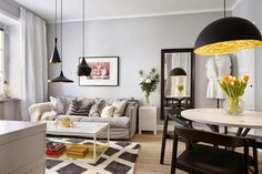 Menos de 50 metros pero muchísimo estilo... En las casas pequeñas también se puede prestar atención a los detalles.