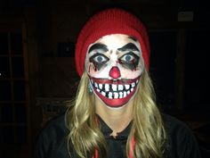 Terrifying clown makeup