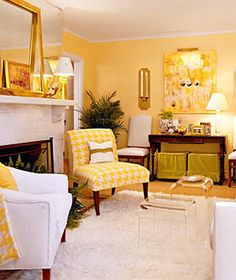 Use this happy hue to bring a sunny disposition to your space.