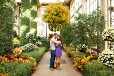 Nick and Amy started writing their #LongwoodStory with engagement photos in the Gardens!