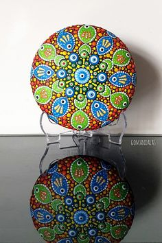 Painted Rocks, Hand Painted, Mandala Rocks, Pointillism, Stone Painting, Paper Weights, Vibrant Colors, Etsy Seller, Dots