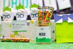 Mad Science Dessert Table Boy Birthday Party Nerds