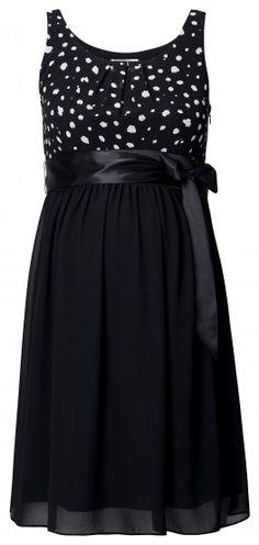 Tehotenské elegantné šaty bez rukávov NOPPIES - čierna c459888987