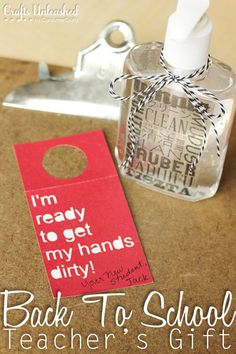 Back To School Teacher's Gift With Free Printable from craftsunleashed.com