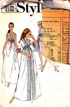 70s Vintage Sewing Pattern Style 2957 Maxi by allthepreciousthings