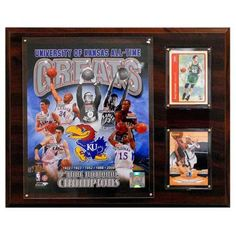 C and I Collectables NCAAB 15W x 12H in. Kansas Jayhawks All - Time Great Photo Plaque - 1215KANSASGR