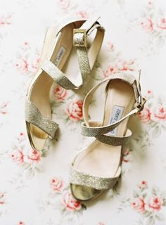 Low Glittery Strappy Wedges: http://www.stylemepretty.com/2015/06/11/20-chic-shoes-that-wont-sink-in-the-grass/