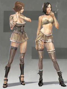 View an image titled 'Pleasure House Girls Art' in our Dishonored art gallery featuring official character designs, concept art, and promo pictures. Fantasy Character Design, Character Design Inspiration, Character Concept, Character Art, Character Costumes, Girls Characters, Fantasy Characters, Female Characters, Diesel Punk