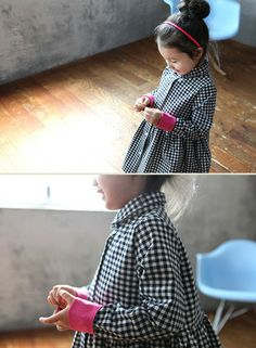 Button Down Gingham Dress  Color Me WHIMSY.