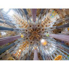 Intérieur de la Sagrada Familia, Barcelone, Espagne