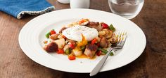 Spiced Sausage Hash With Peppers, Green Beans and Poached Eggs Recipe - Sainsbury's Recipe - Sainsbury's