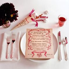 cute idea for Valentine's dinner in