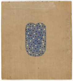 """Anonymous tantric painting (7–4); Legend: The dance of the atoms in a Shiva Linga; also the alliance between Vishnu and Shiva; Sanganer, Rajasthan, 1990; unspecified paint on found paper; 12 x 11"""""""