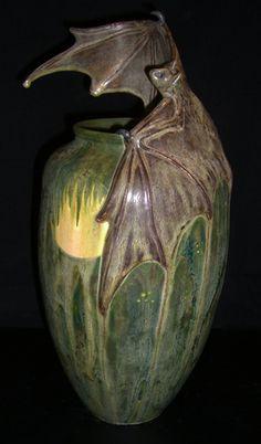 Bat vase by Freiwald Art Pottery