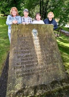 Members of the Kanawha Valley Daughters of the American Revolution cleaned up the Daniel Boone Park Monument for a re-dedication ceremony shortly after 12:30 p.m. June 14.