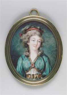 Dorothee, duchesse de Courlande, late 18th century miniature by Augustin Ritt (1765-1799) (Louvre)