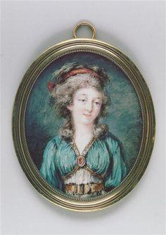 Dorothee, duchesse de Courlande, late 18th century miniature by Augustin Ritt (1765-1799) (Louvre)