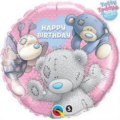 Pink fólia lufi macikkal (minden korosztálynak!) http://lufiwebaruhaz.hu/folia-lufik/18-inch-es-macik-szulinapi-folia-lufi/3 #teddy #balloon #happybirthday