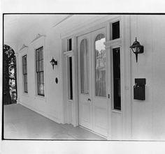 The front porch of Gregg-Hamilton House