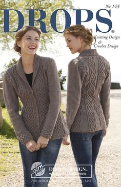 Nordic Mart - DROPS design one-stop source for Garnstudio yarns, free crocheting and knitting patterns, crochet hooks, buttons, knitting needles and notions. Knitted Coat Pattern, Aran Knitting Patterns, Crochet Coat, Jacket Pattern, Knitting Designs, Free Knitting, Knitting Needles, Crochet Hooks, Drops Design