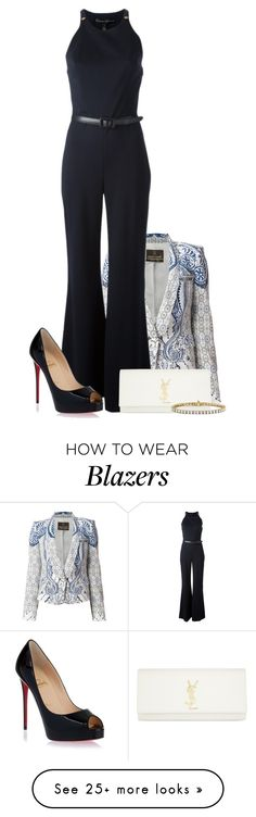 """""""All The Boys"""" by sugar-roses-and-icing-hearts on Polyvore featuring мода, Roberto Cavalli, Ralph Lauren Black Label, Christian Louboutin, Yves Saint Laurent и Blue Nile"""