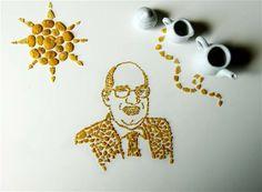 Al Roker made out of corn flakes