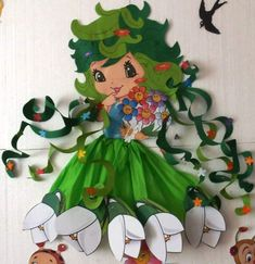 kindergarten spring theme activities for teaching young Preschool Crafts, Diy Crafts For Kids, Art For Kids, Bird Nest Craft, Paper Art, Paper Crafts, Rena, Spring Theme, Art N Craft
