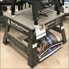 If your offering is purposefully compact, improve its sales-floor presentation with strategies like this elevated Pit Boss Grill Pedestal Display Retail Fixtures, Store Fixtures, Char Broil Grill, Flooring Sale, Retail Merchandising, Charcoal Grill, Pedestal, Storage Spaces, Grilling