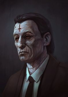 Black Mage by DanteCyberMan Arte Horror, Horror Art, Character Portraits, Character Art, Vampire Games, Call Of Cthulhu Rpg, Pen & Paper, Vampire Masquerade, Black Mage