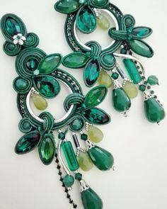 Adel's Laboratory Soutache Pendant, Soutache Necklace, Beaded Earrings, Boho Jewelry, Jewelry Design, Fashion Jewelry, Shibori, Handmade Necklaces, Handmade Jewelry