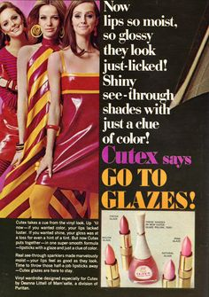 1960s Makeup, Vintage Makeup Ads, Vintage Nails, Retro Makeup, Vintage Beauty, Nail Polish Brands, Beauty Ad, Girls Nails