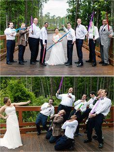 star wars wedding party #starwarswedding @weddingchicks