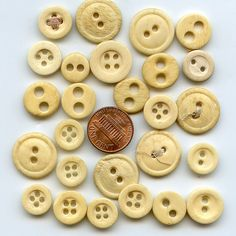 Bone Buttons  Variety Lot of Over (25) Vintage Genuine  MORE AVAILABLE
