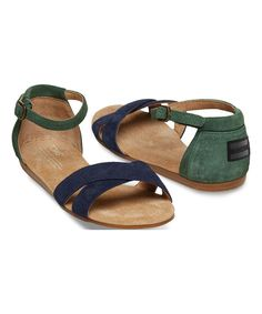 Look at this TOMS Navy Galapagos Correa Suede Sandal on #zulily today!